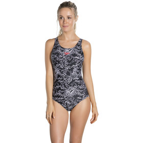 speedo Boom Allover Muscleback Swimsuit Women Black/White